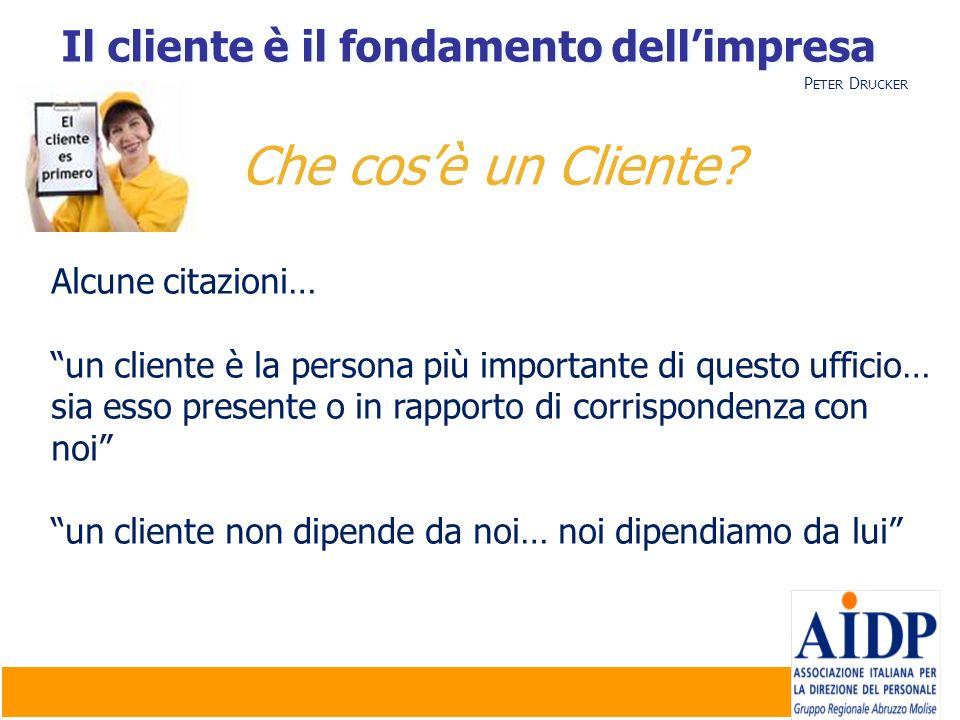 Il cliente è il fondamento dell'impresa