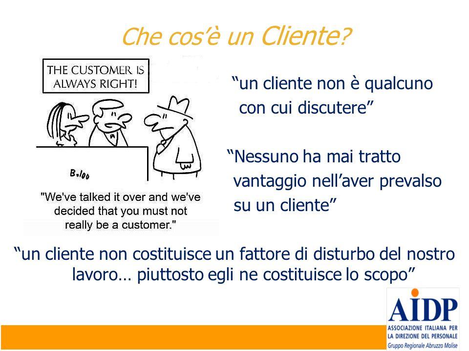 Che cos'è un Cliente un cliente non è qualcuno con cui discutere