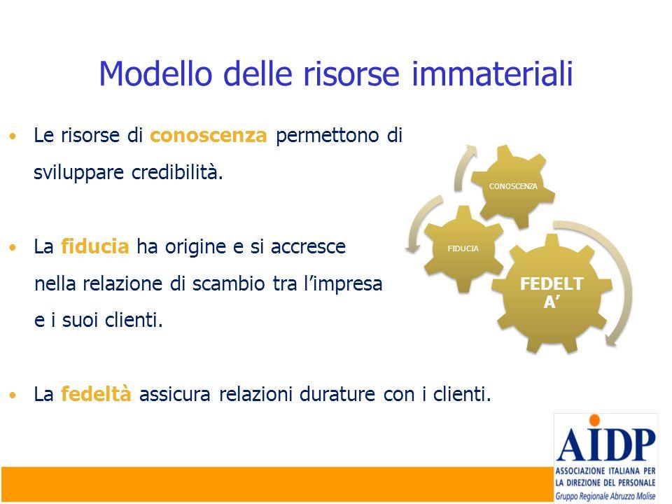 Modello delle risorse immateriali