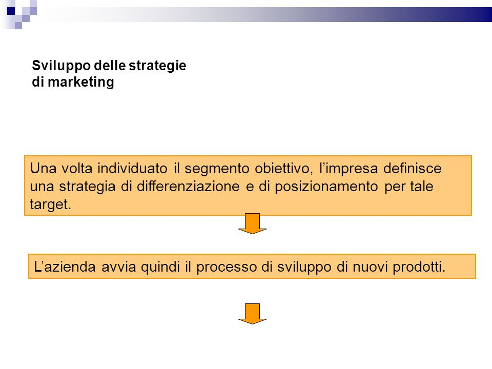 Sviluppo delle strategie di marketing