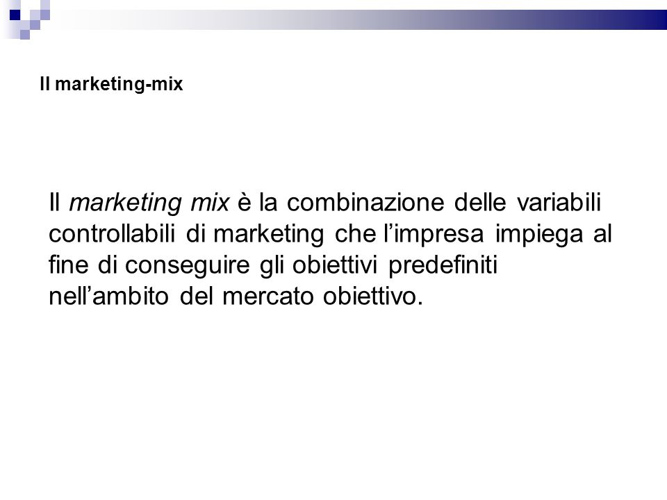 Il marketing-mix