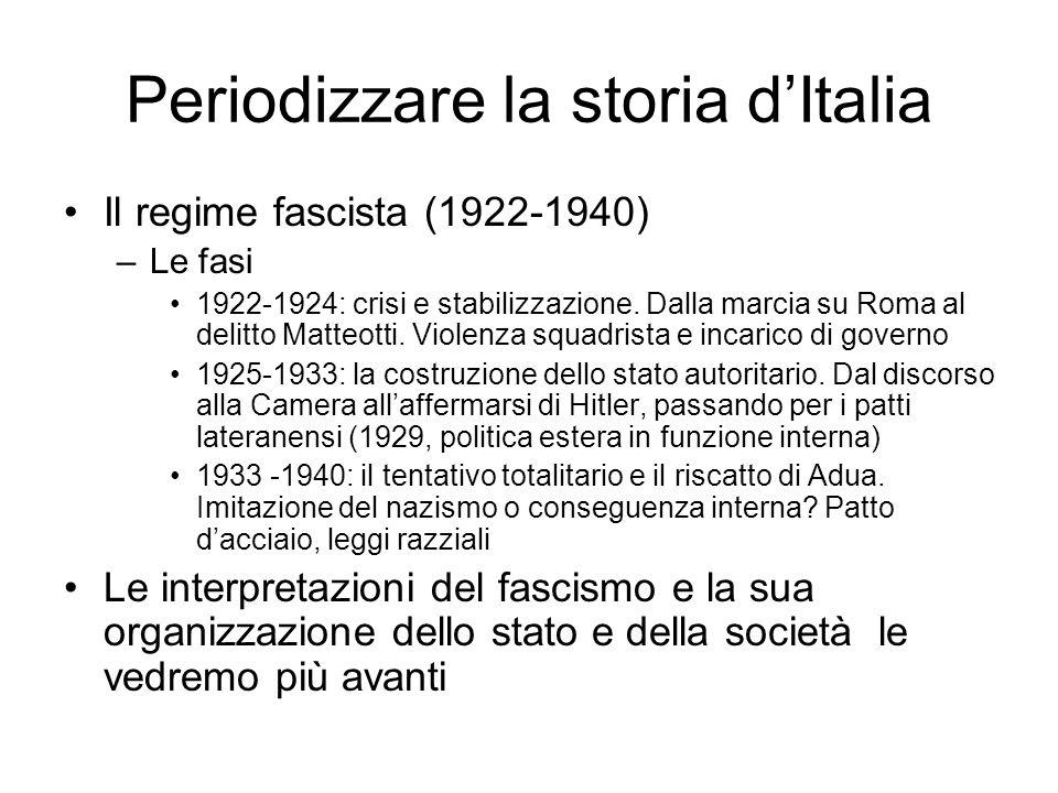 Periodizzare la storia d'Italia