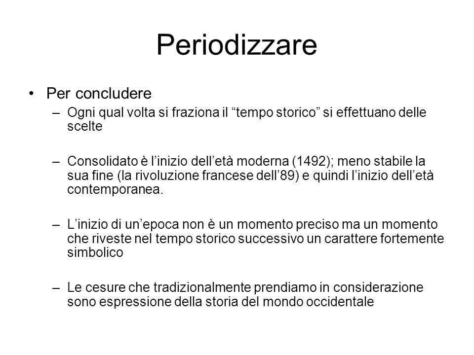 Periodizzare Per concludere
