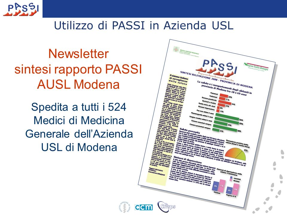 sintesi rapporto PASSI AUSL Modena