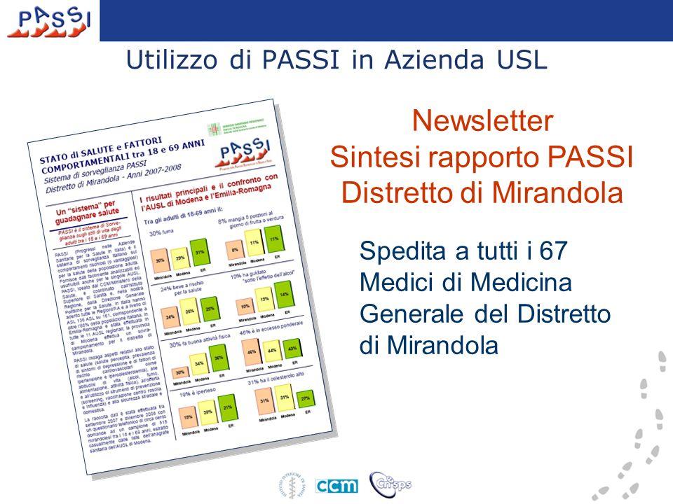 Utilizzo di PASSI in Azienda USL