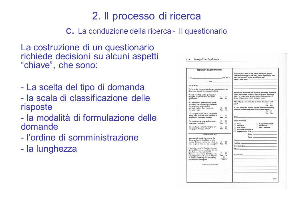 2. Il processo di ricerca c