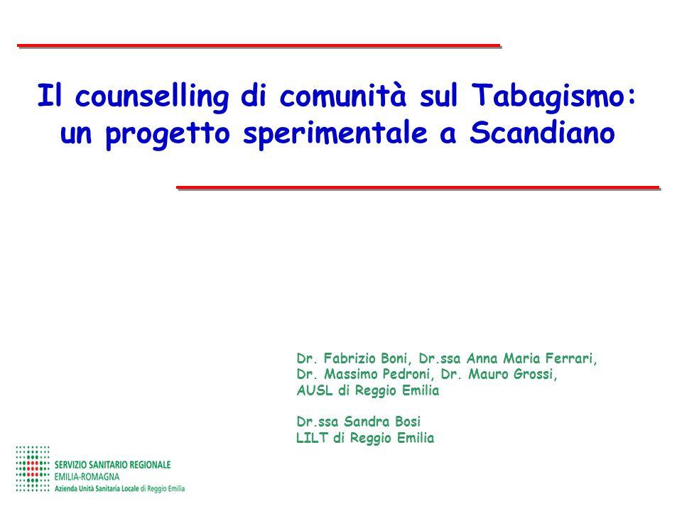 Il counselling di comunità sul Tabagismo: un progetto sperimentale a Scandiano