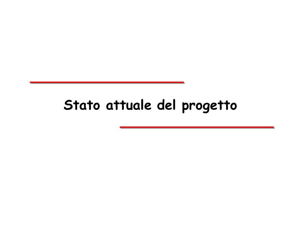 Stato attuale del progetto