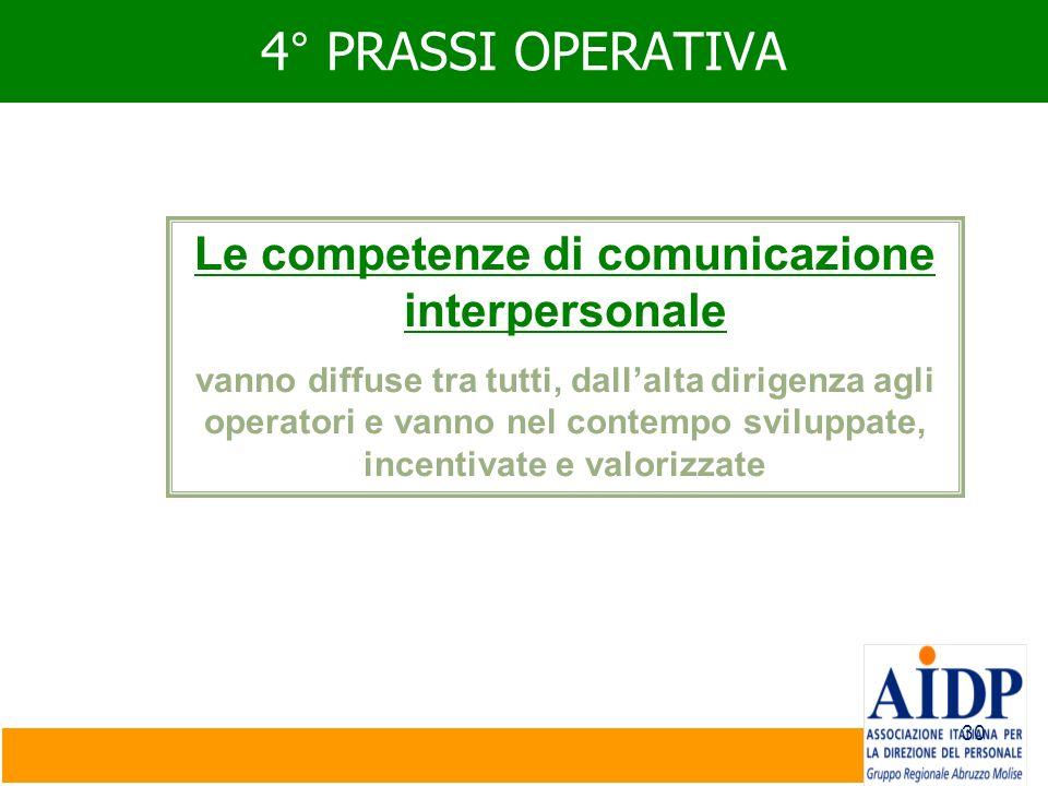 Le competenze di comunicazione interpersonale