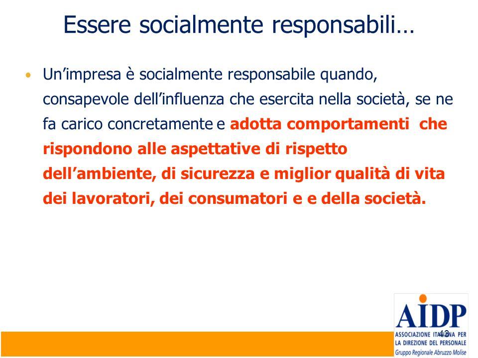 Essere socialmente responsabili…