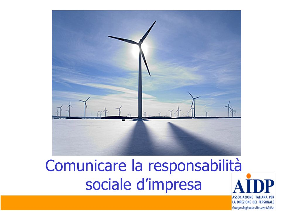 Comunicare la responsabilità sociale d'impresa