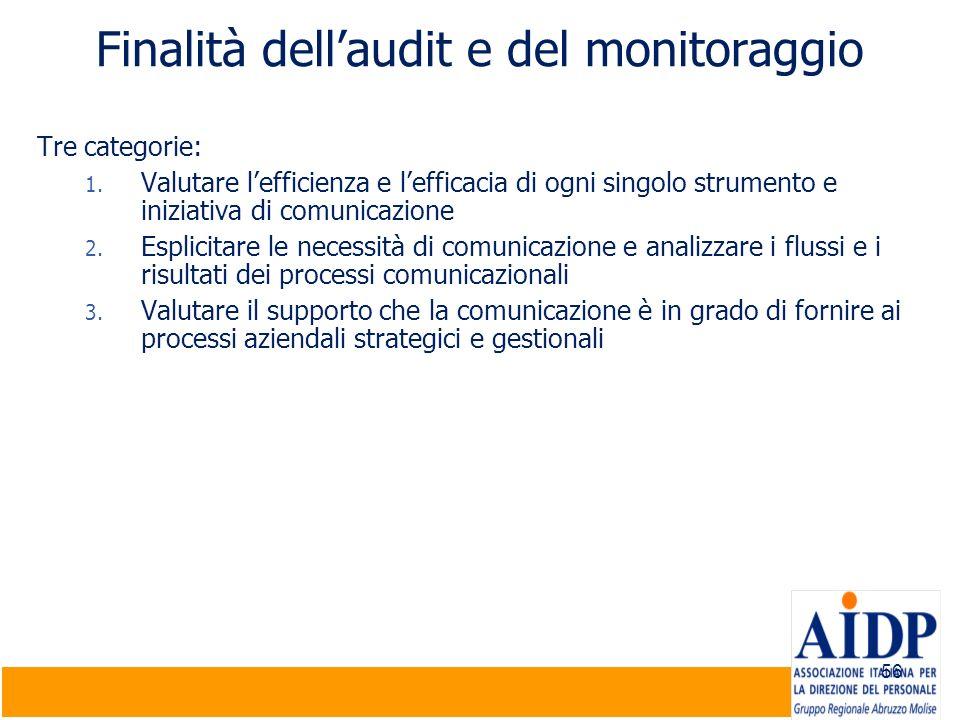 Finalità dell'audit e del monitoraggio