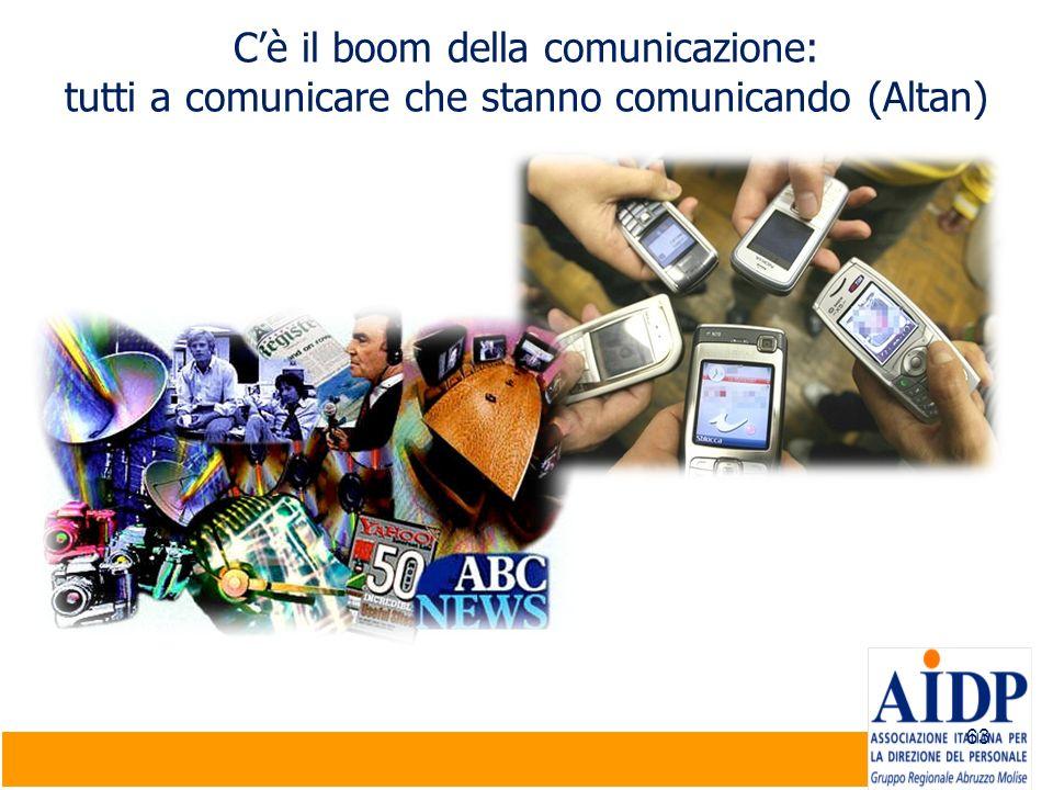 C'è il boom della comunicazione: tutti a comunicare che stanno comunicando (Altan)