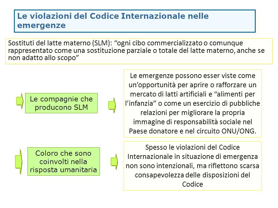 Le violazioni del Codice Internazionale nelle emergenze