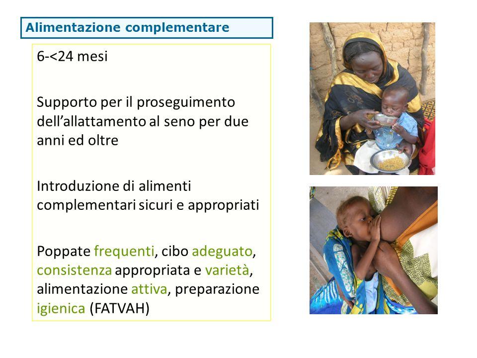 Introduzione di alimenti complementari sicuri e appropriati