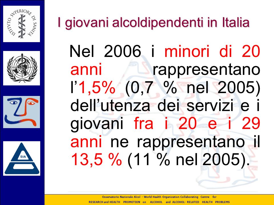 I giovani alcoldipendenti in Italia