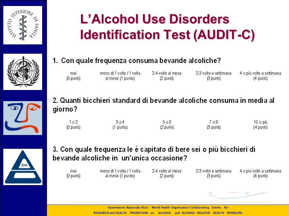 L'Alcohol Use Disorders Identification Test (AUDIT-C)