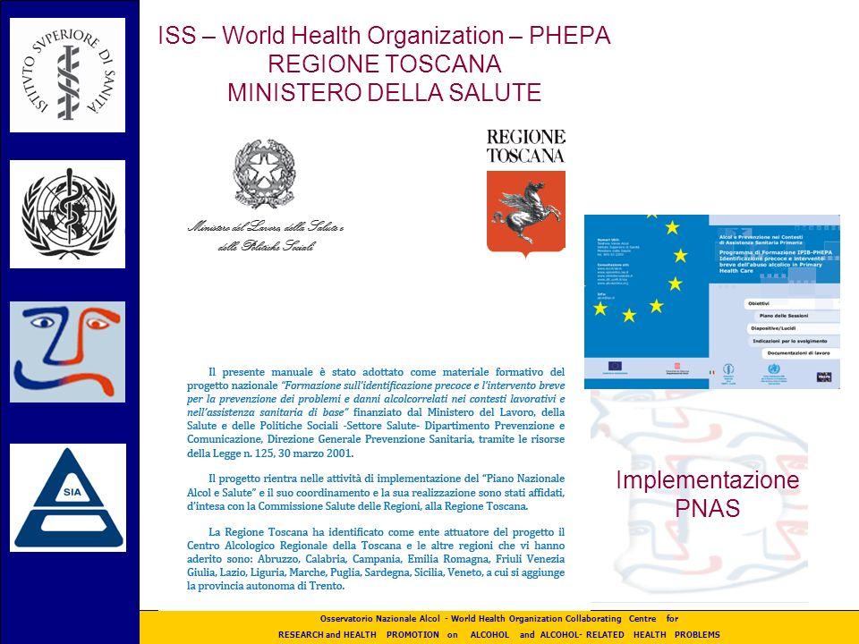 ISS – World Health Organization – PHEPA REGIONE TOSCANA MINISTERO DELLA SALUTE