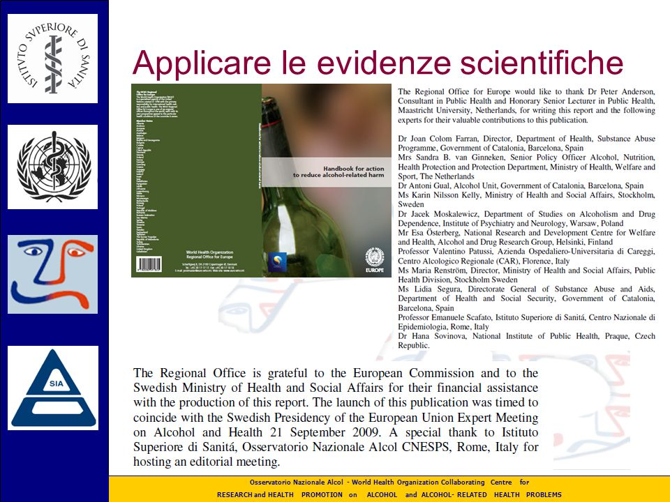 Applicare le evidenze scientifiche