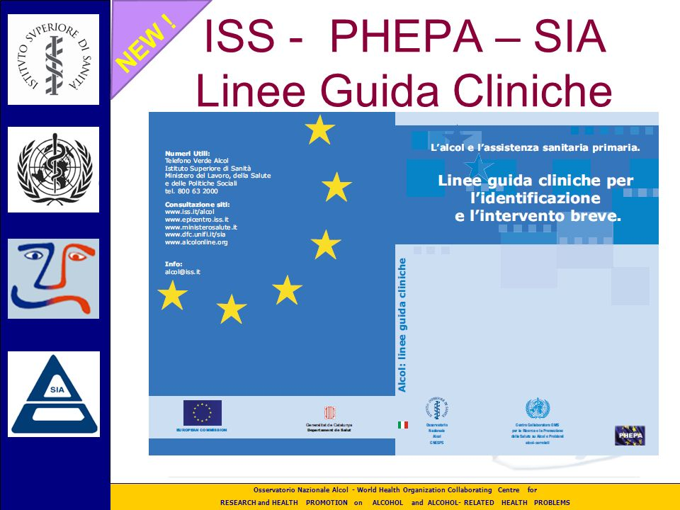 ISS - PHEPA – SIA Linee Guida Cliniche