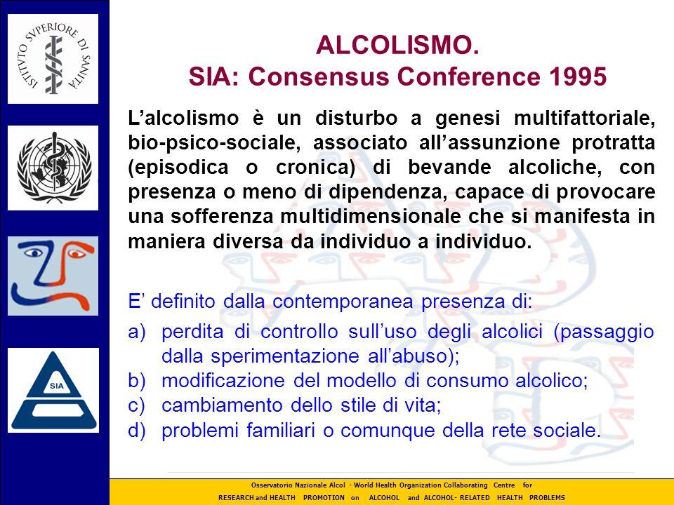 ALCOLISMO. SIA: Consensus Conference 1995
