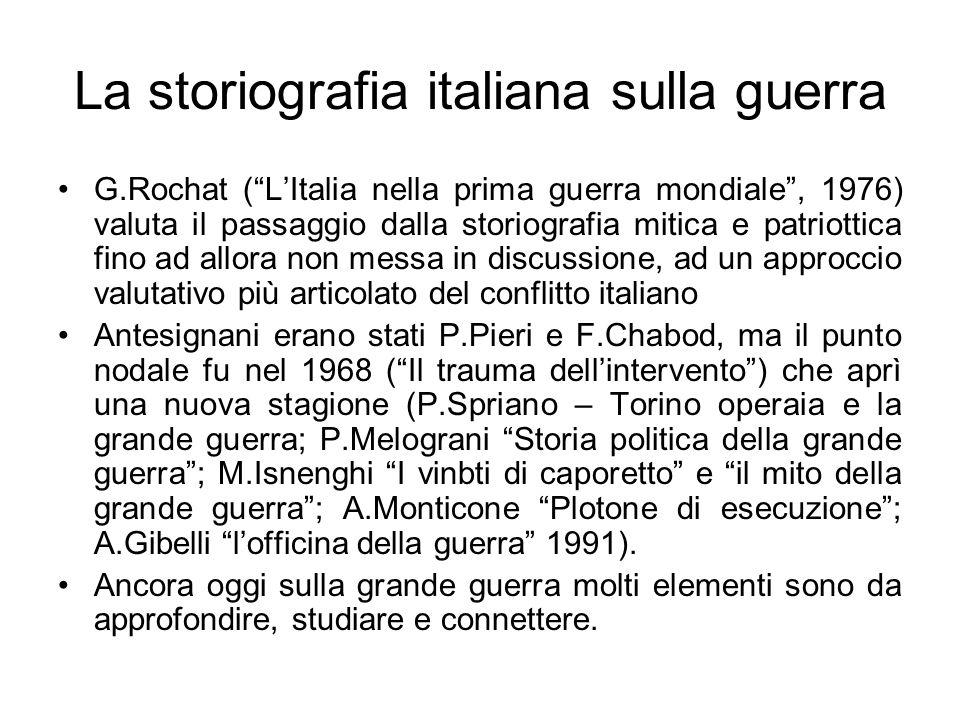 La storiografia italiana sulla guerra