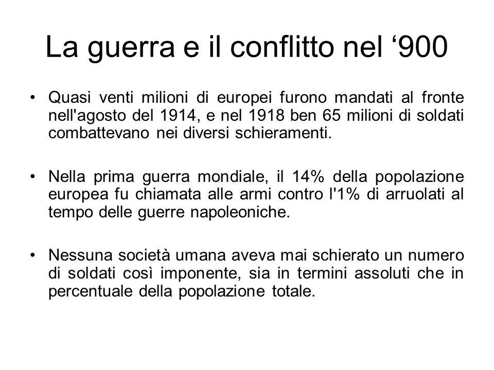 La guerra e il conflitto nel '900