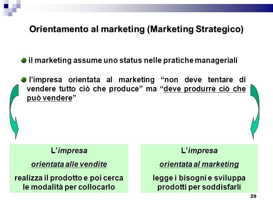 Orientamento al marketing (Marketing Strategico)
