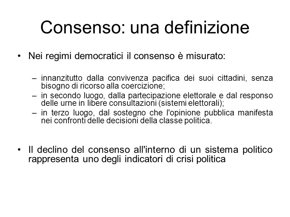 Consenso: una definizione