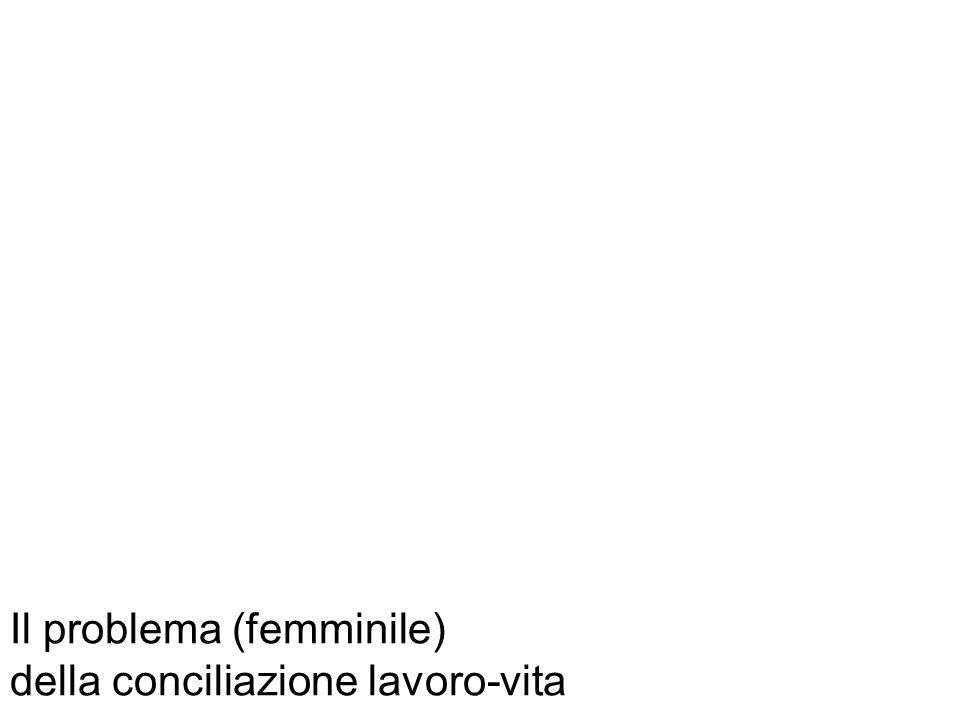 Il problema (femminile) della conciliazione lavoro-vita