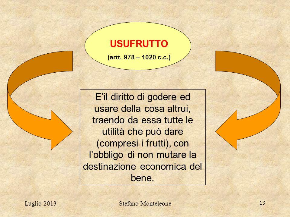 USUFRUTTO (artt. 978 – 1020 c.c.)