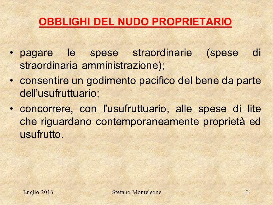 OBBLIGHI DEL NUDO PROPRIETARIO