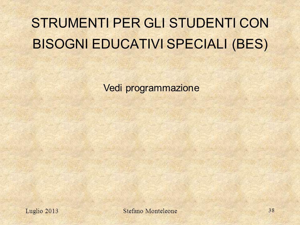 STRUMENTI PER GLI STUDENTI CON BISOGNI EDUCATIVI SPECIALI (BES)