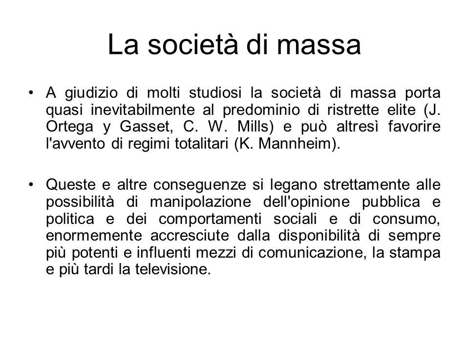 La società di massa