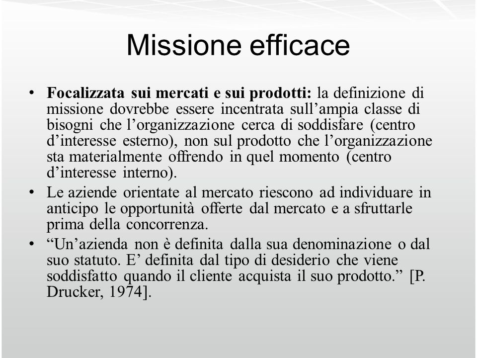 Missione efficace