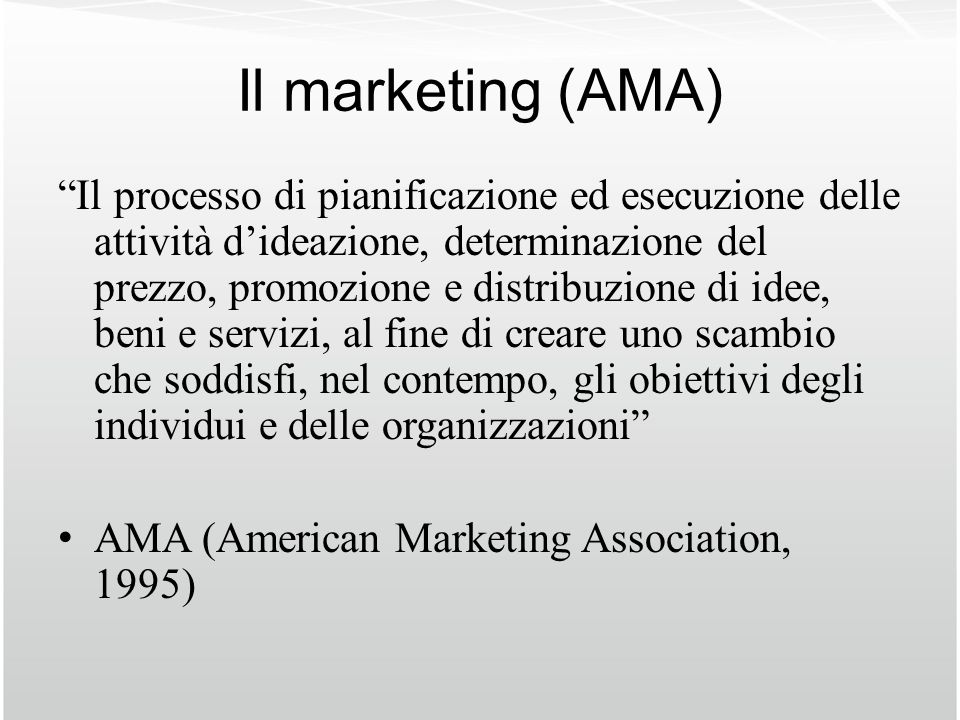 Il marketing (AMA)
