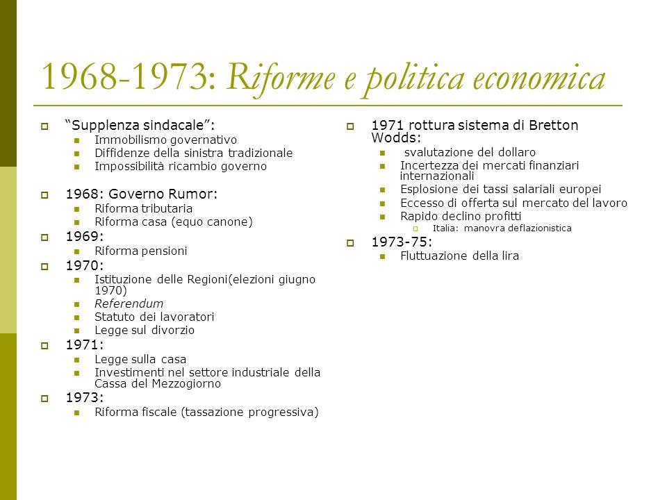 1968-1973: Riforme e politica economica