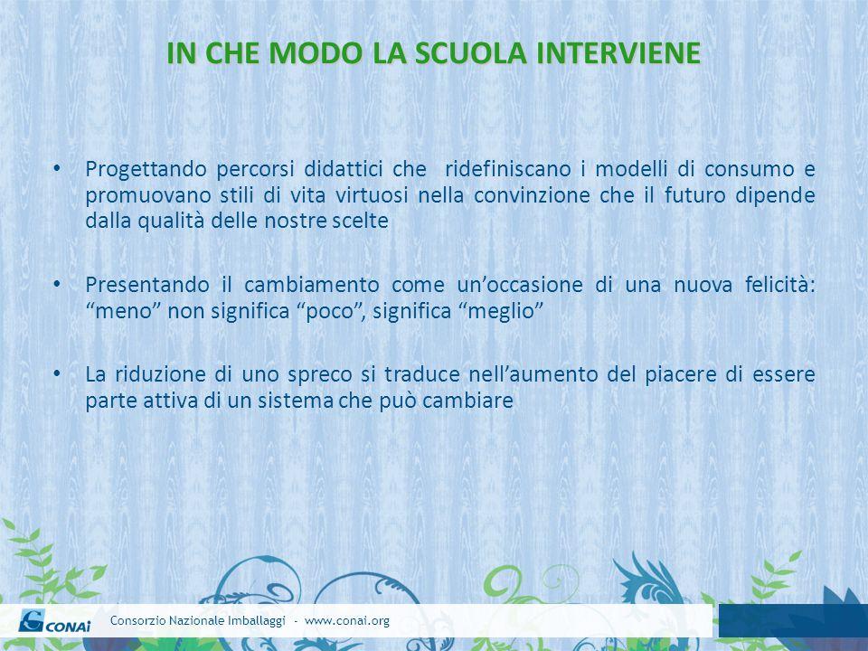 IN CHE MODO LA SCUOLA INTERVIENE