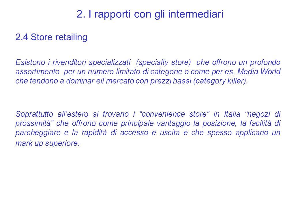 2. I rapporti con gli intermediari