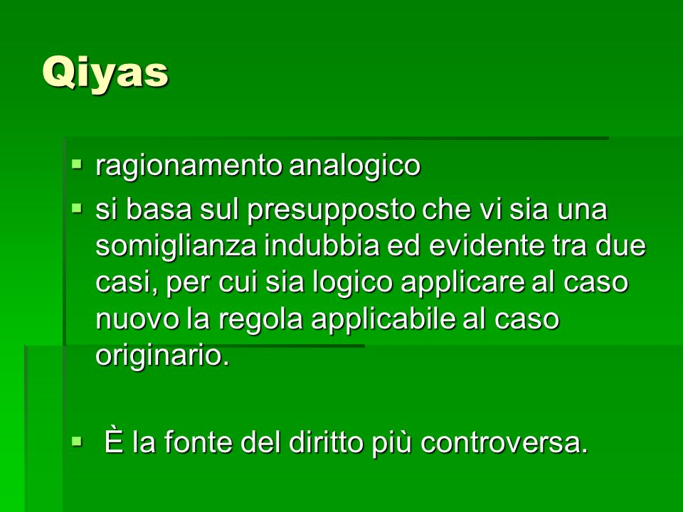 Qiyas ragionamento analogico