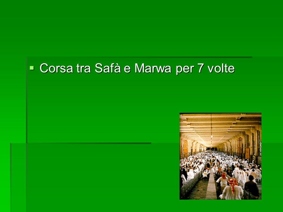 Corsa tra Safà e Marwa per 7 volte