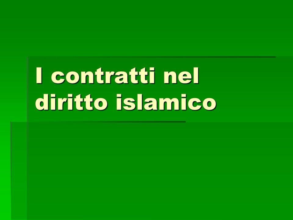 I contratti nel diritto islamico