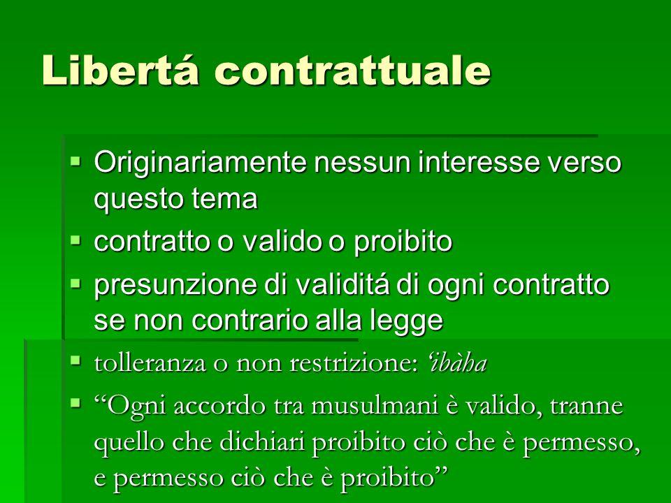 Libertá contrattuale Originariamente nessun interesse verso questo tema. contratto o valido o proibito.