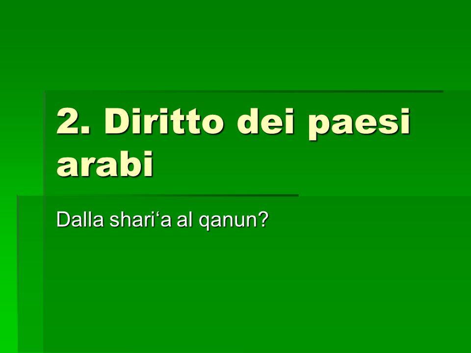 2. Diritto dei paesi arabi