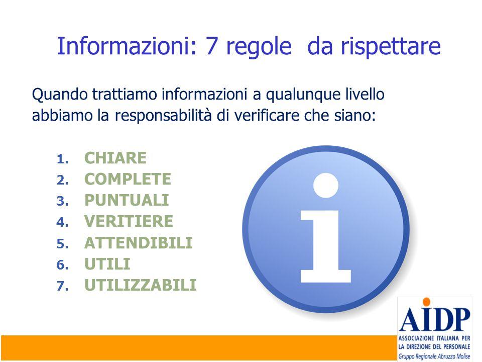 Informazioni: 7 regole da rispettare
