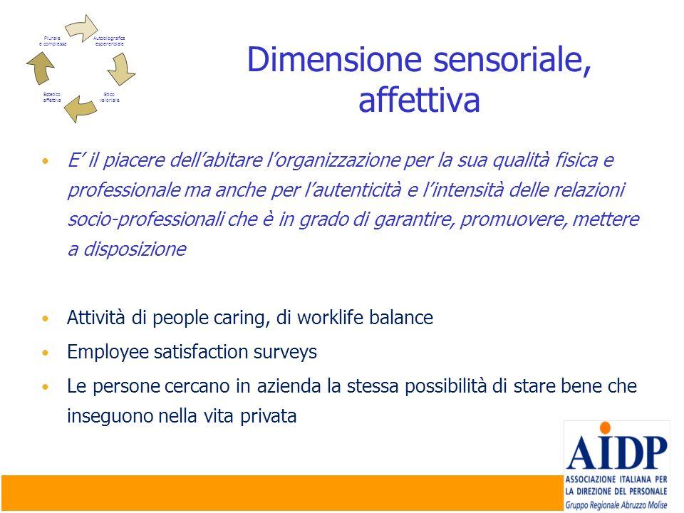 Dimensione sensoriale, affettiva
