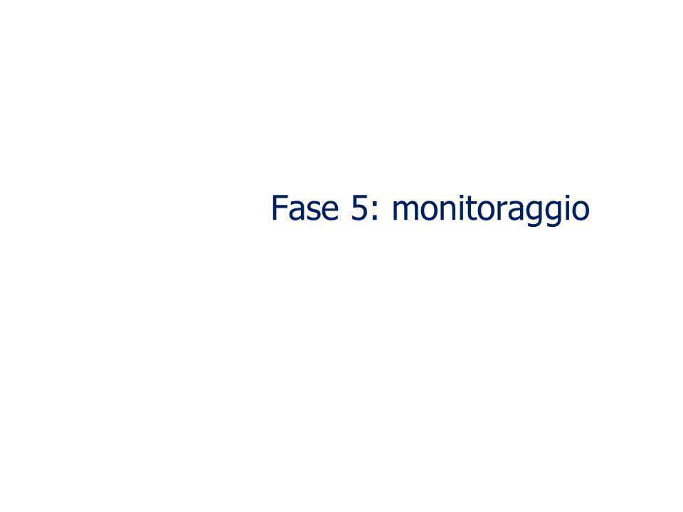 Fase 5: monitoraggio