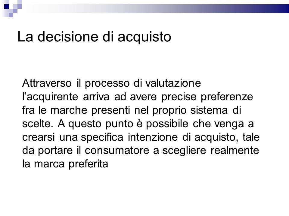 La decisione di acquisto