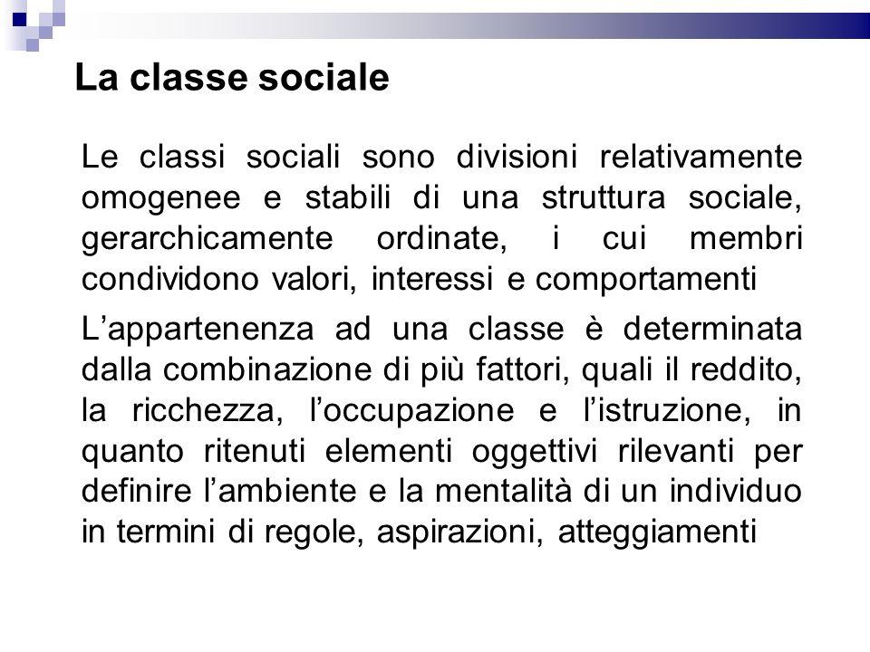 La classe sociale