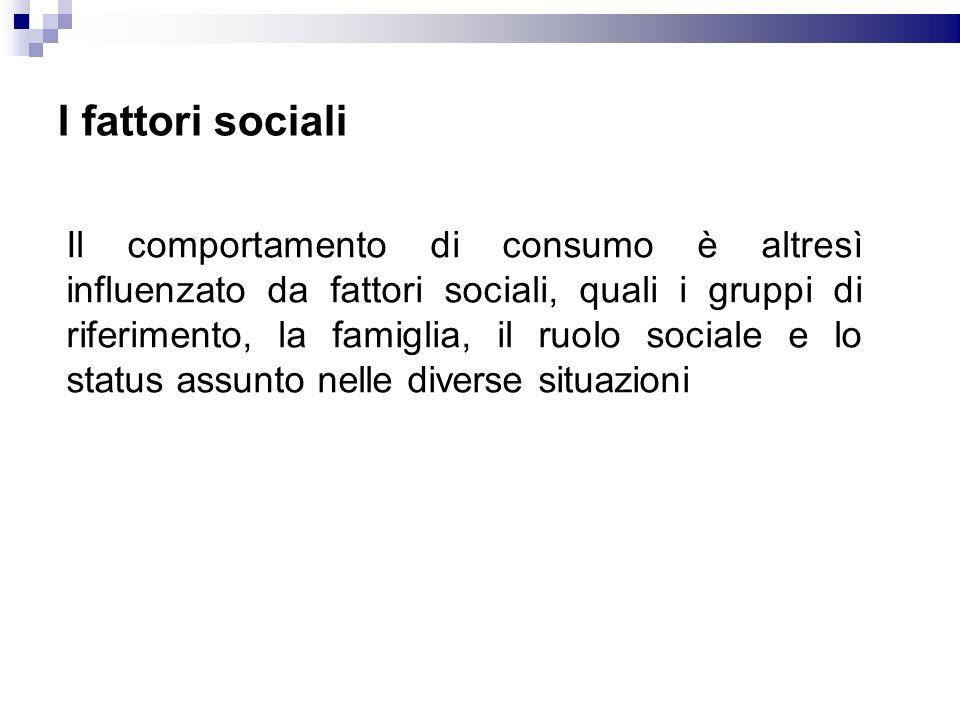 I fattori sociali